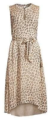 Joie Women's Corrin Silk Print High-Low Dress