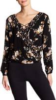 Living Doll Printed Surplice Blouse