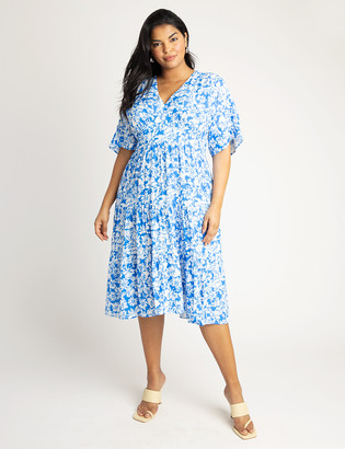 ELOQUII Printed Tiered Dress