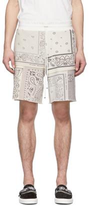 Amiri Off-White Bandana Reconstructed Shorts