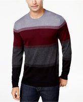 Club Room Men's Colorblocked Merino Sweater, Created for Macy's