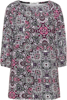 Studio Plus Size Printed jersey long line top