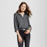 Women's Striped Button Down Woven Shirt - Como Black