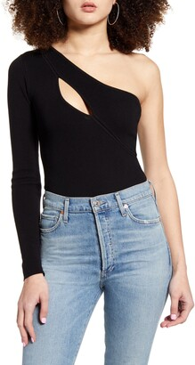 4SI3NNA the Label Annie One-Shoulder Bodysuit