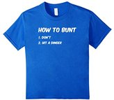 Kids How To Bunt Funny Baseball Fastpitch Softball T-Shirt Gift 12