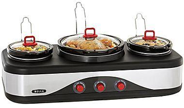 JCPenney BellaTM Multi-Size Triple Slow Cooker