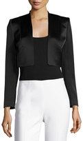Alice + Olivia Londyn Open-Front Cropped Jacket, Black
