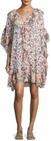 See by Chloe Floral Wallpaper Print Shift Dress, White