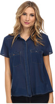 7 For All Mankind Two-Pocket Blouse w/ Open Back