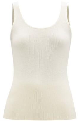 Co Scoop-neck Ribbed-knit Cashmere Tank Top - Ivory
