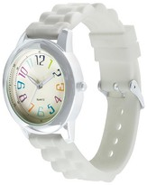 Xhilaration Women's Watch Multicolor Numbers Dial and Silicone Straps