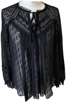 Rebecca Taylor Black Lace Top for Women