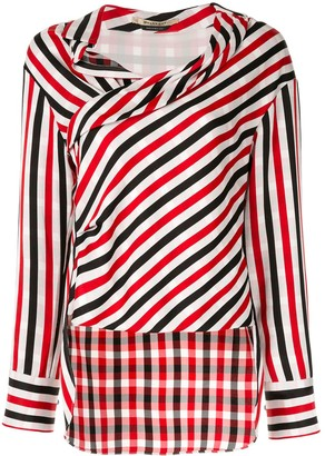 Hellessy asymmetric draped blouse
