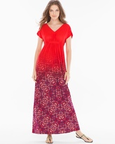 Soma Intimates Grecian-Inspired Maxi Dress Tango Ombre Poppy