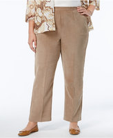 Alfred Dunner Plus Size Twilight Point Collection Wide-Leg Corduroy Pants