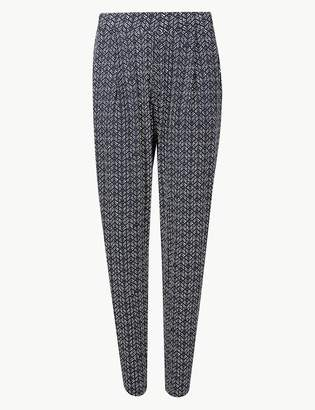 M&S CollectionMarks and Spencer Chevron Jersey Peg Trousers