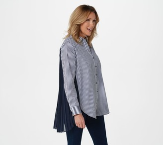 Laurie Felt Classic Blouse with Pleated Back