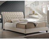 Baxton Studio Jazmin Tufted Modern Bed with Upholstered Headboard, King, Light Beige
