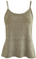 NATIVE YOUTH Crinkle velvet camisole top