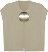 Rick Owens Dagger Mantlette silk-crepe jacket