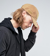 Reclaimed Vintage Baseball Cap With Velcro Tobacco