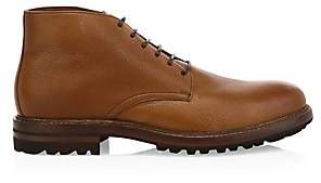 Brunello Cucinelli Men's Shearling-Lined Leather Chukka Boots