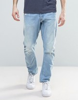 G Star G-Star Type C 3d Tapered Jeans Light Aged Destroyed Wash