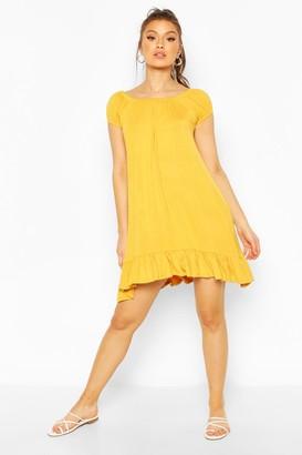 boohoo Cap Sleeve Swing Dress