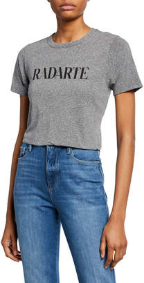 Rodarte Classic Radarte Heathered Graphic Tee