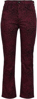 Rag & Bone Flocked High-rise Denim Bootcut Pants