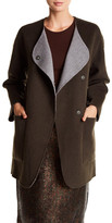 Tibi Reversible Wool & Angora Car Coat