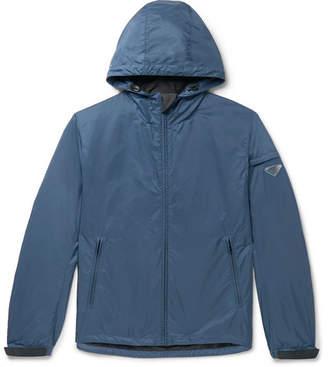 Prada Logo-Appliqued Nylon Hooded Jacket
