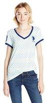 U.S. Polo Assn. Juniors' Short-Sleeve Dot Stripe V-Neck T-Shirt