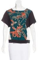 Dries Van Noten Silk Embroidered Top