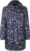 Versace scribble print coat