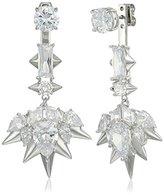 Noir Blizzard Silver Drop Earrings