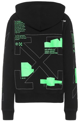 Off-White Off White Printed cotton-jersey hoodie