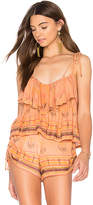 Cleobella Soledad Top in Coral. - size L (also in M,S,XS)
