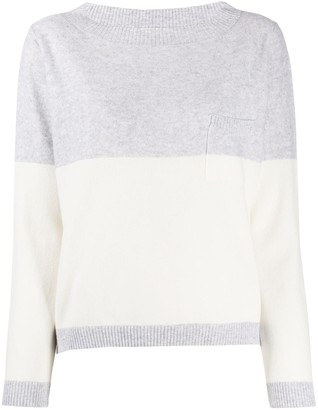Fabiana Filippi Two-Tone Pocket Jumper