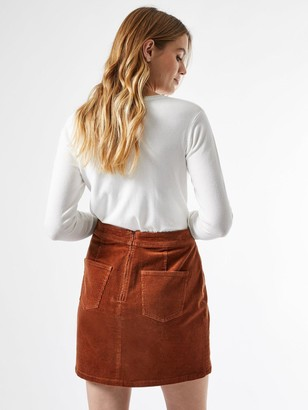 Dorothy Perkins Wrap Cord Button Skirt - Brown