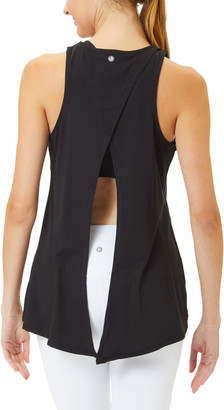 90 Degree By Reflex Women's Tank Tops BLACK - Black Tie-Back Scoop Neck Tank - Women