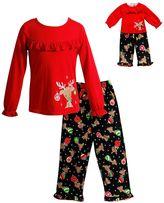 Dollie & Me Girls 4-14 Reindeer Pajama Set
