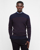 Rib Striped Crew Neck Jumper