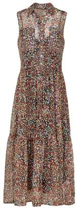 Equipment Allix Printed Silk Sleeveless Dress