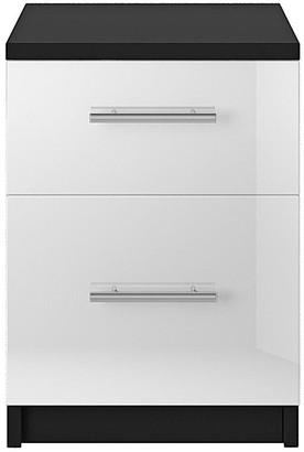 Cologne Gloss 2-Drawer Bedside Cabinet