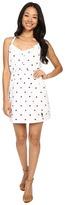 U.S. Polo Assn. Dot Print Tie Back Sun Dress