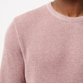 River Island MensPink textured sweater