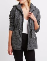 Charlotte Russe Marled Sherpa Lined Anorak Jacket