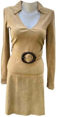 Jitrois Beige Suede Dress for Women
