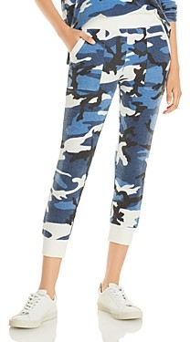 Theo & Spence Cropped Camo Print Jogger Pants